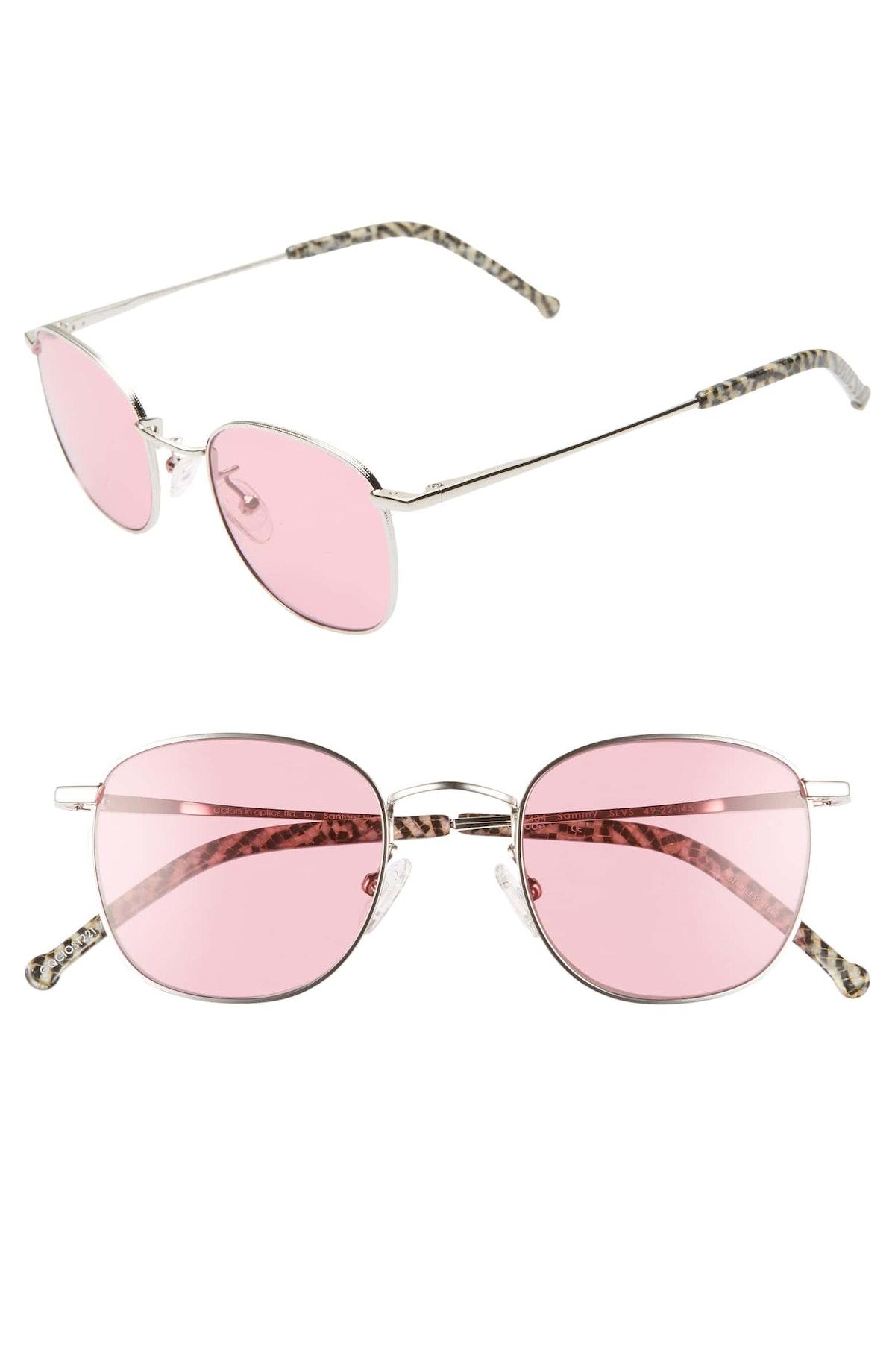 Sammy 49mm Round Sunglasses