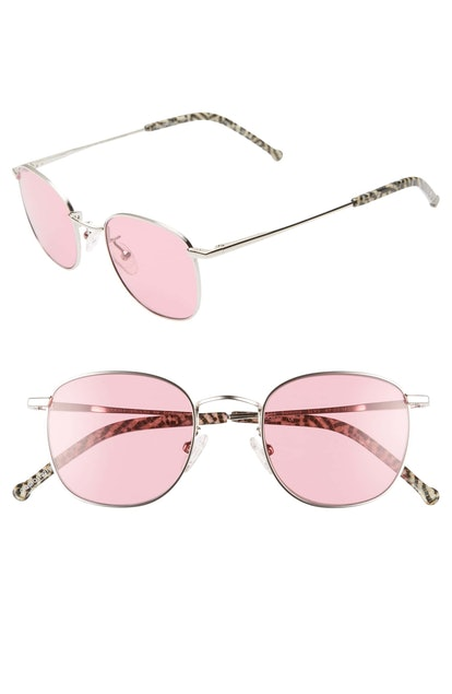 Sammy 49mm Round Sunglasses