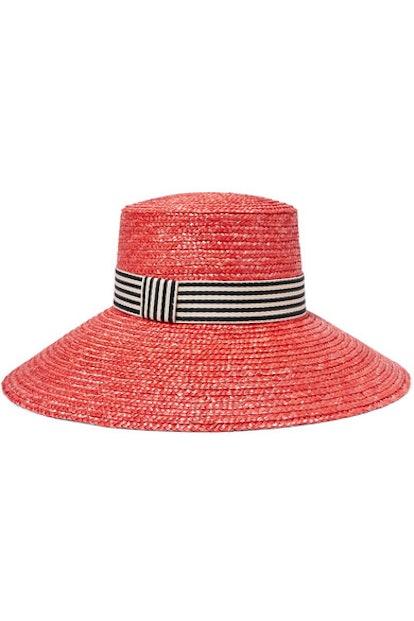 Eugenia Kim Annabelle Grosgrain-Trimmed Straw Hat
