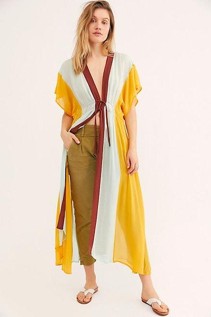 Rainbow Kaftan Kimono
