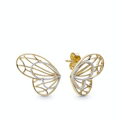 Openwork Butterflies Stud Earrings