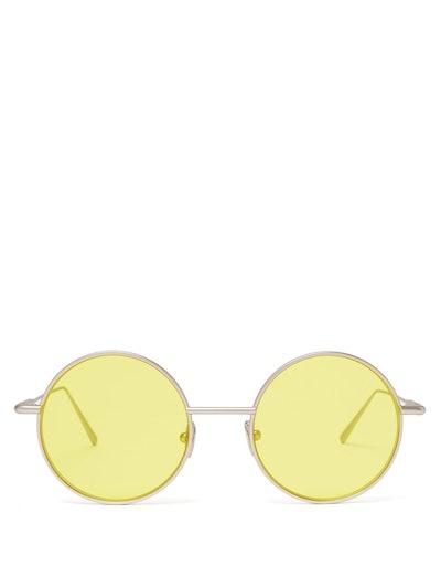 Scientist Round Metal Sunglasses