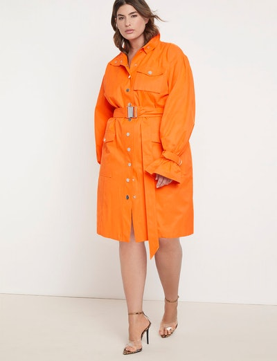 Priscilla Ono x ELOQUII Belted Cargo Dress