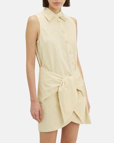Tie Waist Shirt Dress