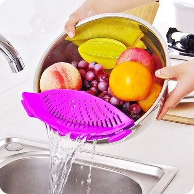 Clip-On Silicone Strainer