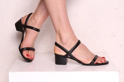 Kimi Black Leather Sandals