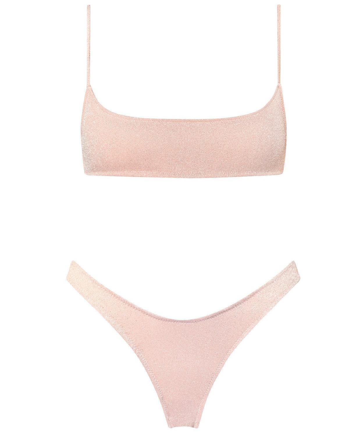 Blush Mica Lurex Bikini
