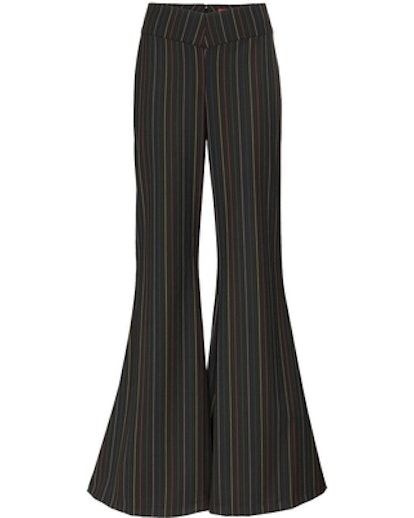Rainbow Striped Wide Flare Trousers