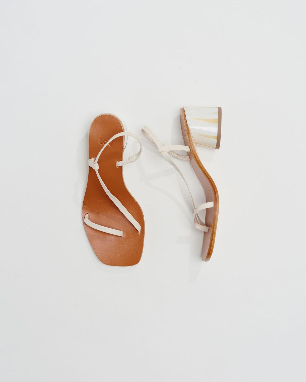 Crema Leather Isla Sandals