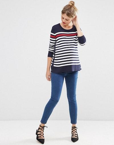 ASOS Maternity Striped Nursing Sweater (2-16)