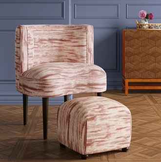 Clary Curved Back Accent Chair - Opalhouse, Pink Velvet