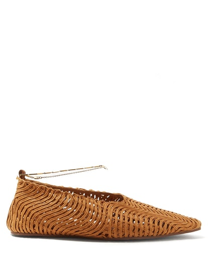 Woven Ankle Bracelet Ballet Flats