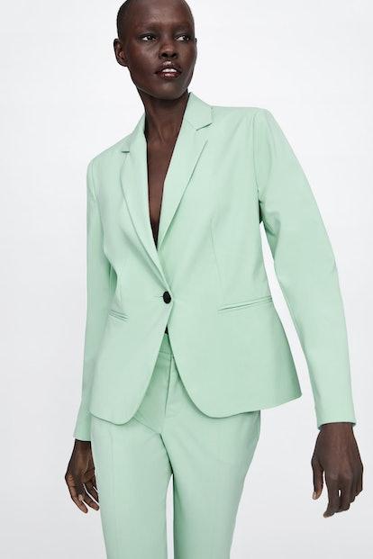 Buttoned Blazer