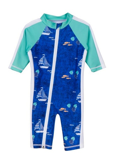 SwimZip Long Sleeve Sunsuit (Sizes 0-24 months)