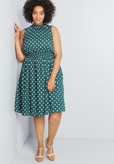 A Line Polka Dot Dress