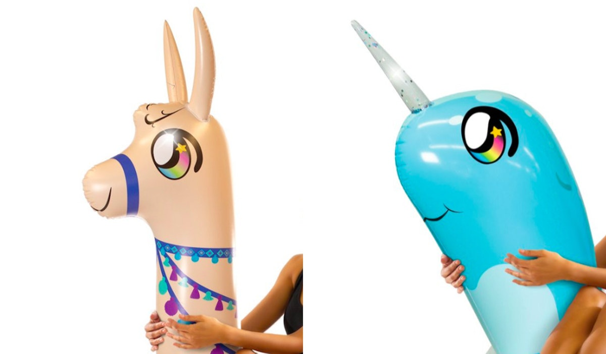 PoolCandy's New Glitter Animal Floats Include Unique Options Like Narwhals & Llamas