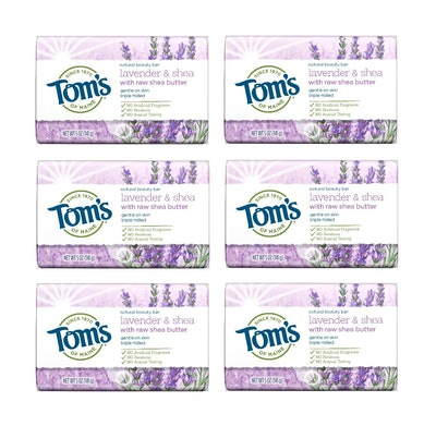 Tom's of Maine Lavender & Shea Natural Bar Soap (6 Pack)