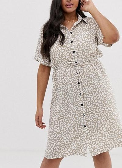 Fashion Union Plus Shirt Dress With Tie Waist