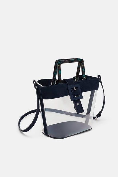 Vinyl Shopper With Leather