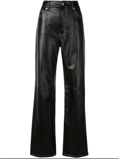 High Waisted Flared Trousers