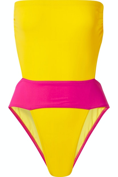 Helene Cut-Out Colorblock Swimsuit