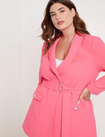 Priscilla Ono x ELOQUII Belted Blazer with Pockets