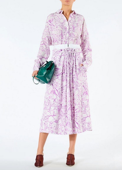 Silk Isa Toile Double Waist Overlay Skirt