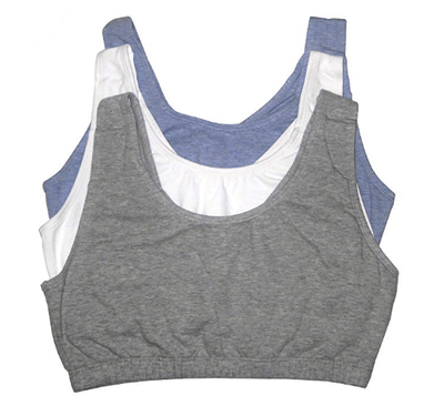 Fruit of The Loom Built-Up Sports Bra (3-Pack)