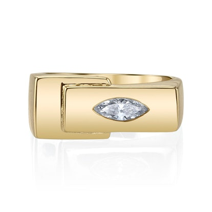Marquise Overlap Pinky Ring