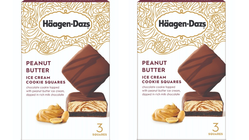 These New Haagen-Dazs Peanut Butter Cookie Ice Cream Squares