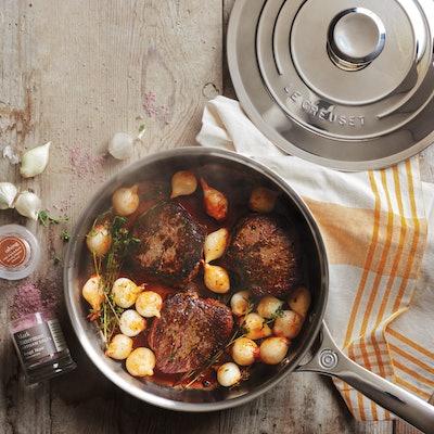 Le Creuset Stainless Steel Sauté Pan, 4.5 qt.