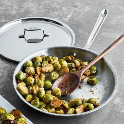 """All-Clad d5 Brushed Stainless Steel Skillet with Lid, 10"""""""
