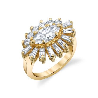 Evil Eye Diamond Ring