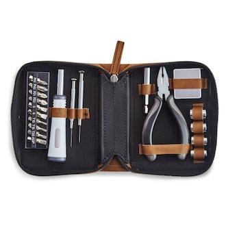 Leatherette Travel Tool Kit (Set of 21)