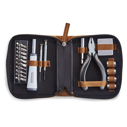 Leatherette Travel Tool Kit (Set of 21)