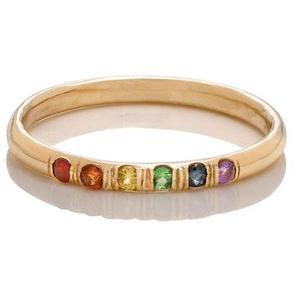 Rainbow Gemstone Band