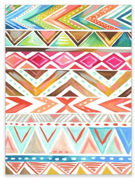 Azalea Stripe Wall Art