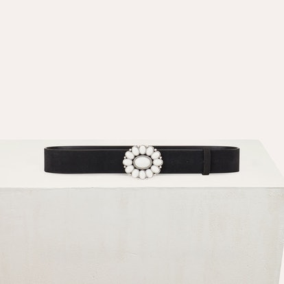 Trouser Belt With Flower Buckle