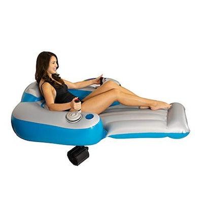 Poolcandy Splash Runner Motorized Inflatable Swimming Pool Lounger