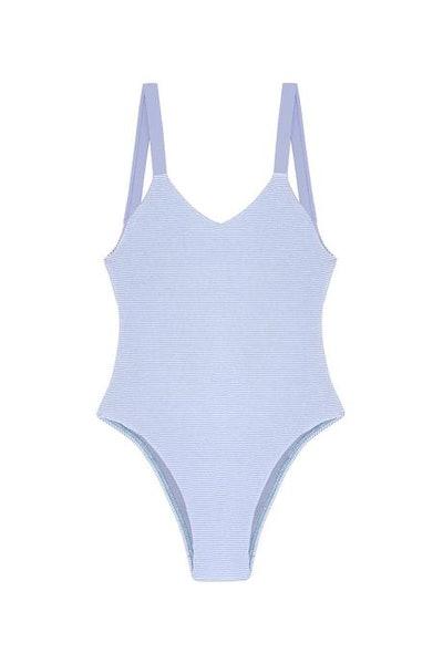 Louise Bodysuit, Sky Blue BioRib