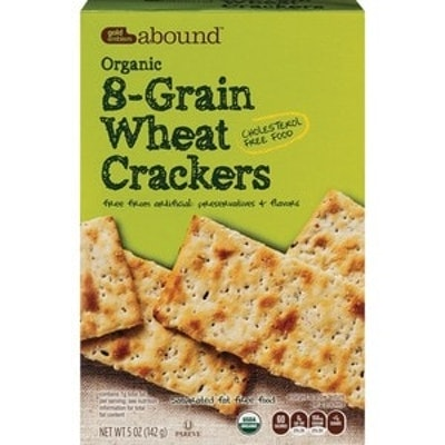 Gold Emblem Abound Organic 8-Grain Wheat Crackers