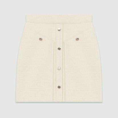 Short Tweed-Style Skirt