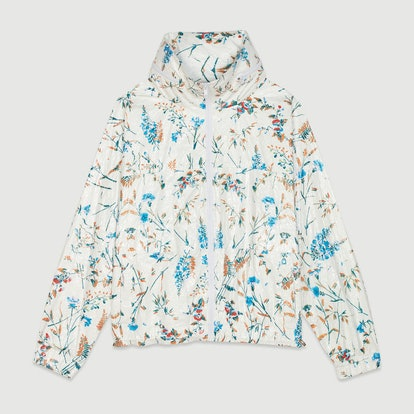 Windbreaker with Floral Print