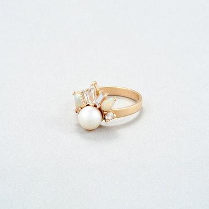 Crowned Jewel Pearl Ring