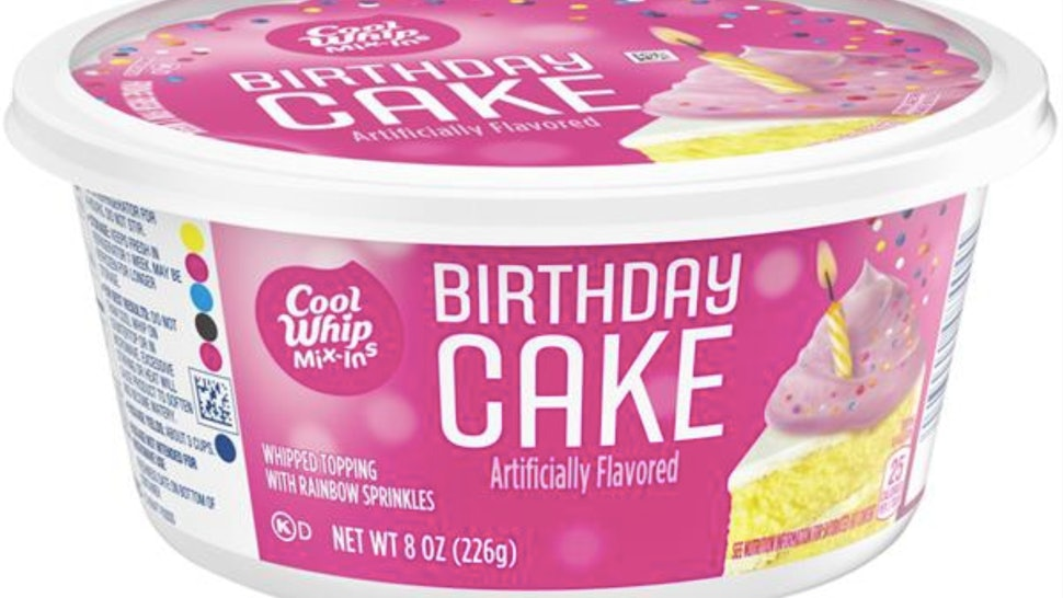 Excellent Cool Whip Has Birthday Cake Mix Ins Theyre Full Of Rainbow Funny Birthday Cards Online Elaedamsfinfo