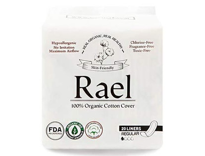 Rael Organic Cotton Panty Liners (40 Count)