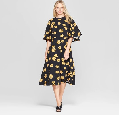 Bell Sleeve A-Line Dress