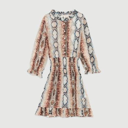 Short Dress with Python Print