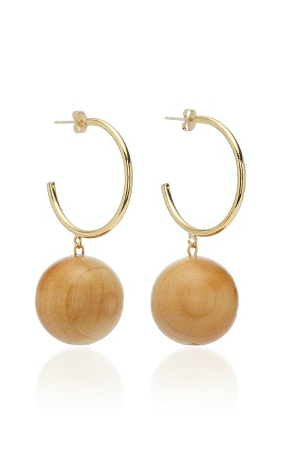 Gravity Gold-Plated Wood Earrings