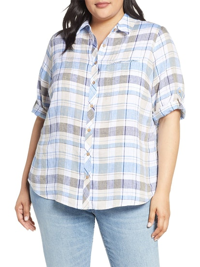 Reese Plaid Linen Shirt